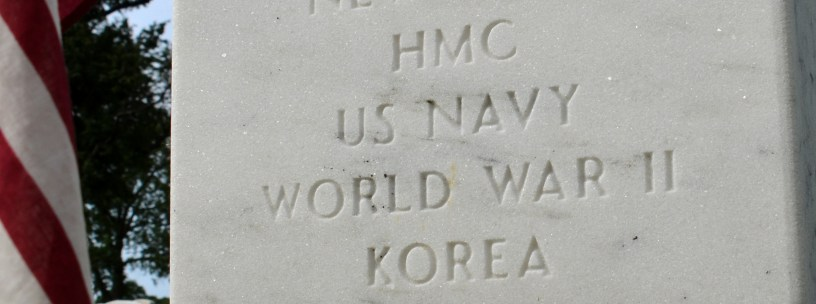 From Dad's headstone. Photo by Mike Hartley