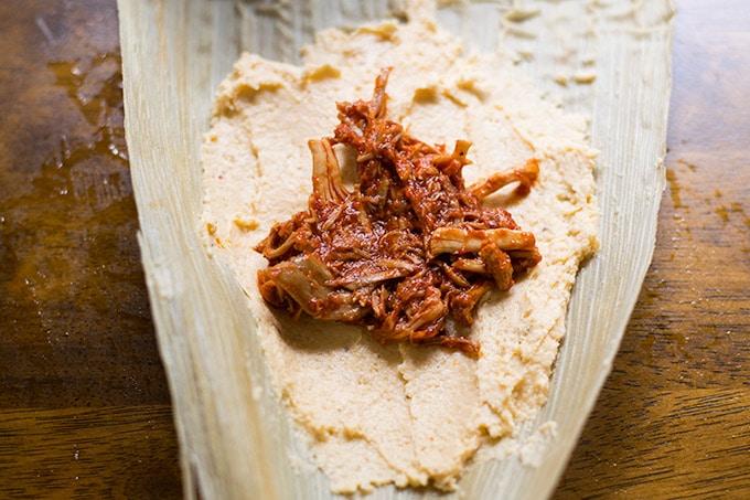 preparing tamales