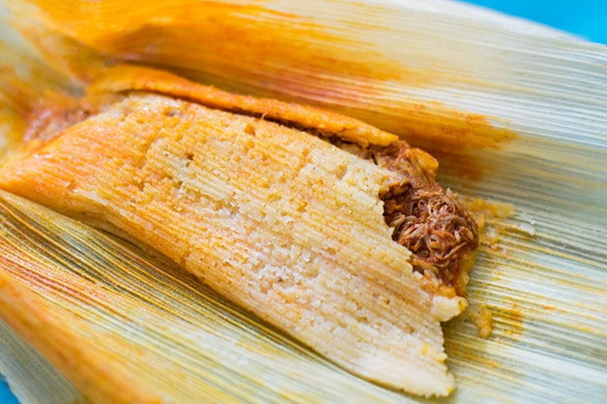 tamal after steaming