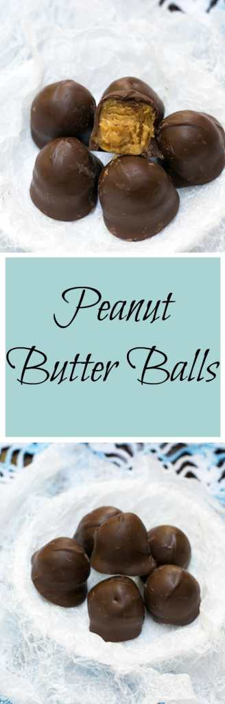 peanut butter balls are the perfect candy to make for the holidays!