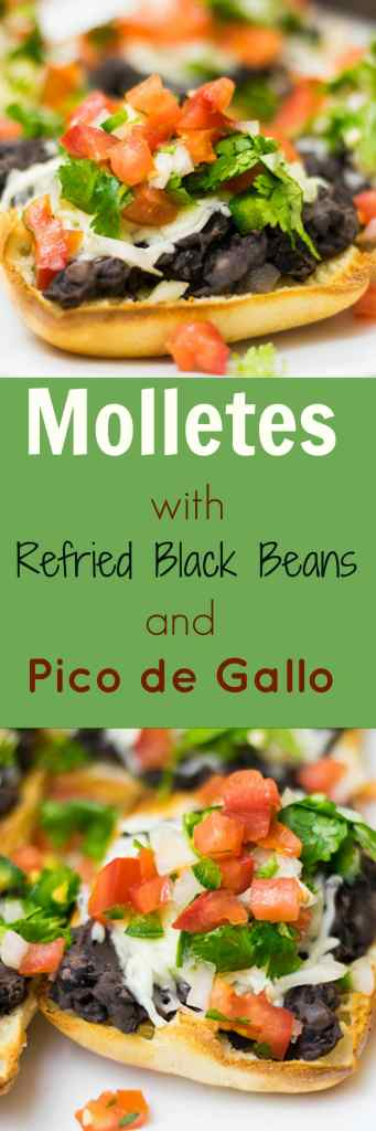 Molletes are a delicious Mexican meal that can be served for breakfast, lunch, dinner or even as a snack!