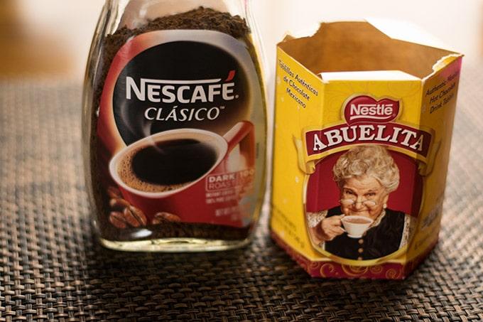 nescafe and abuelita chocolate to make mexican hot chocolate coffee