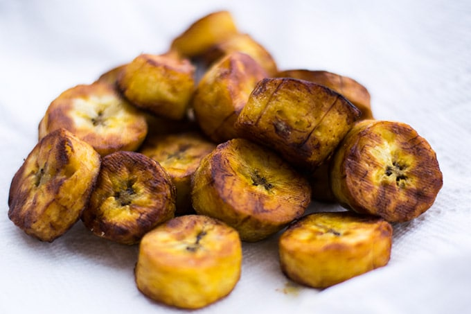 sweet fried plantains are a cheap and delicious snack