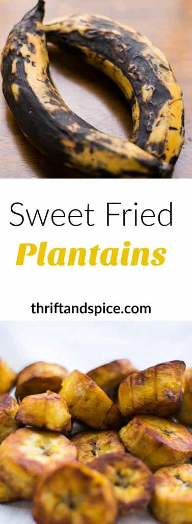 sweet fried plantains are easy, delicious and quick to make. They can be served as a snack or even as a side dish.