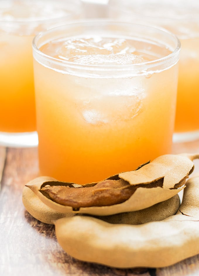 agua de tamarindo is an agua fresca that is popular in Mexico. It is made from the tamarind fruit. Try it this cinco de mayo!