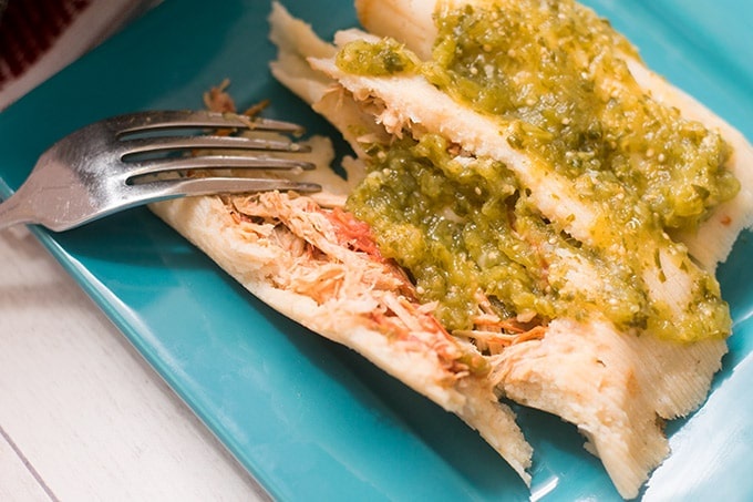 Tamales de rajas con pollo are one of my favorite mexican foods ever. Tamales are often made during the holidays such as Day of the Dead and Christmas.