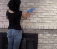 TUTORIAL: How to Paint a Brick Fireplace With Brick Anew
