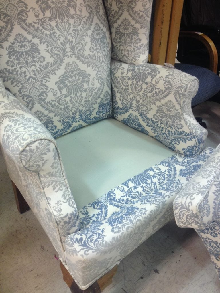 Vintage Wing Back Chair THRIFT SCORE  Thrift Diving Blog