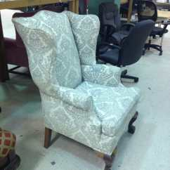 How Much Fabric Do I Need To Reupholster A Chair Best Gaming For Big Guys Reddit Vintage Wing Back Thrift Score Diving Blog