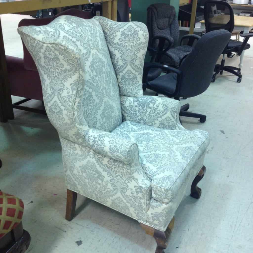 Wing Back Chairs Vintage Wing Back Chair Thrift Score Thrift Diving Blog