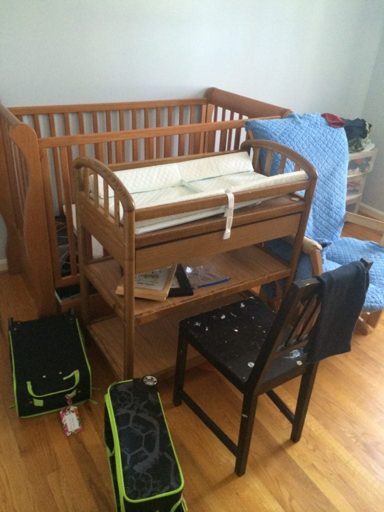 white rolling chair graco blossom high winslet i repurposed a changing table into desk: diy furniture makeovers