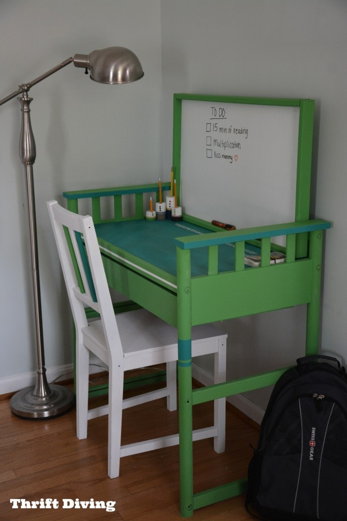 Turn a Changing Table Into a Desk  Thrift Diving Blog