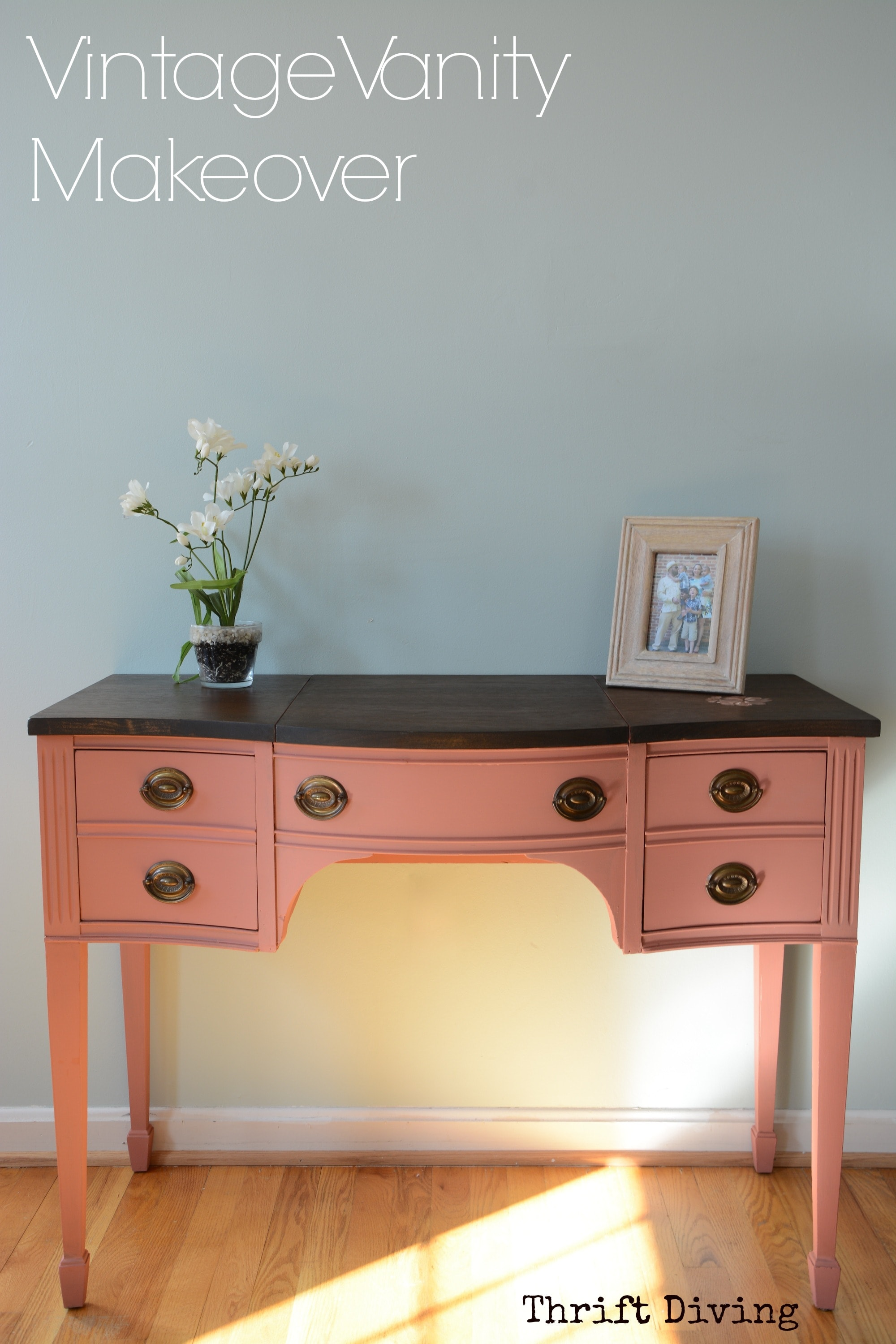 BEFORE And AFTER Makeover Of A Vintage Vanity Thrift