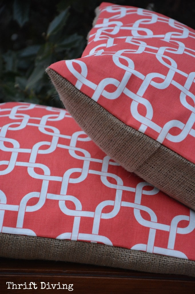 DIY Pillow Covers with Paint And Stencils