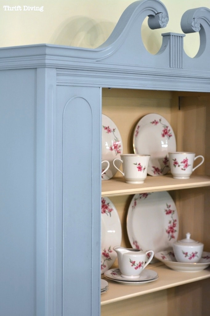 BEFORE  AFTER My China Cabinet Makeover Using Beyond Paint