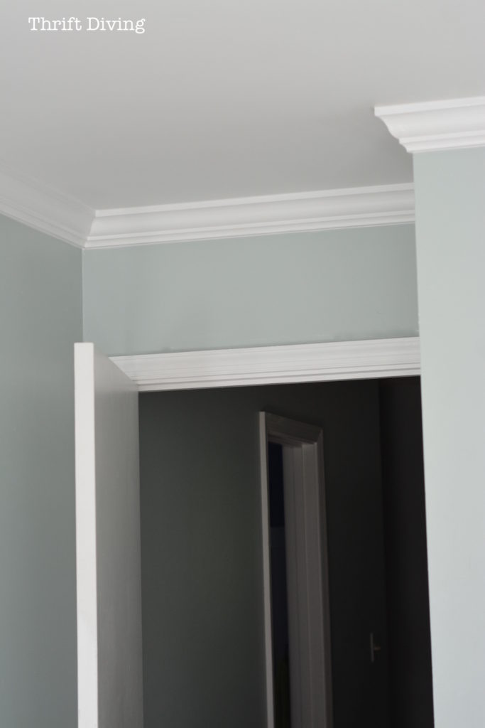 How to Put Up Crown Molding Like a Novice  Thrift Diving Blog