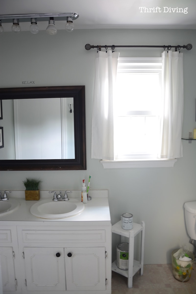 Painted Bathroom Cabinets Before After My Pretty Painted Bathroom Vanity