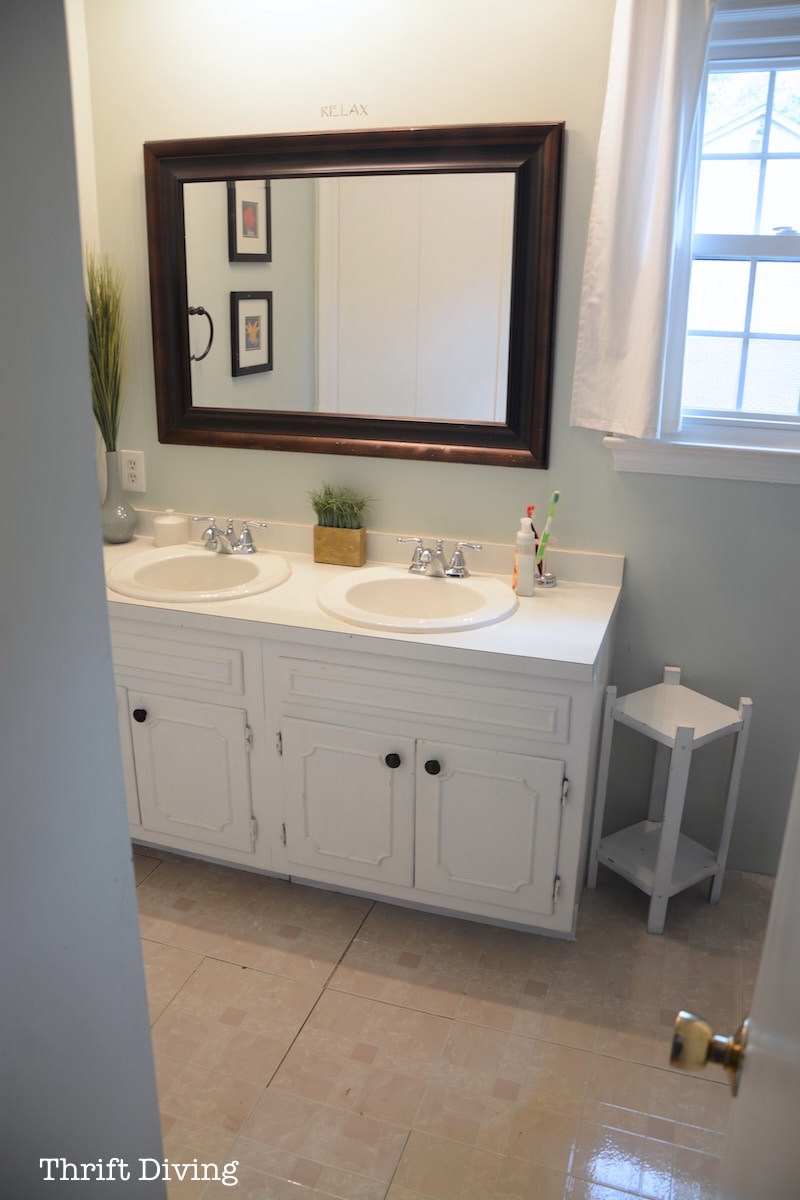 before & after: my pretty painted bathroom vanity