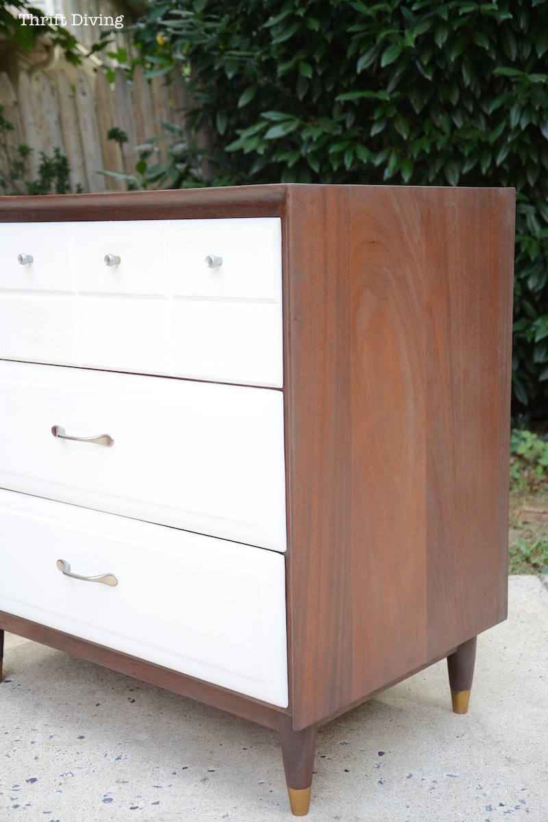 A MidCentury Modern Dresser Makeover