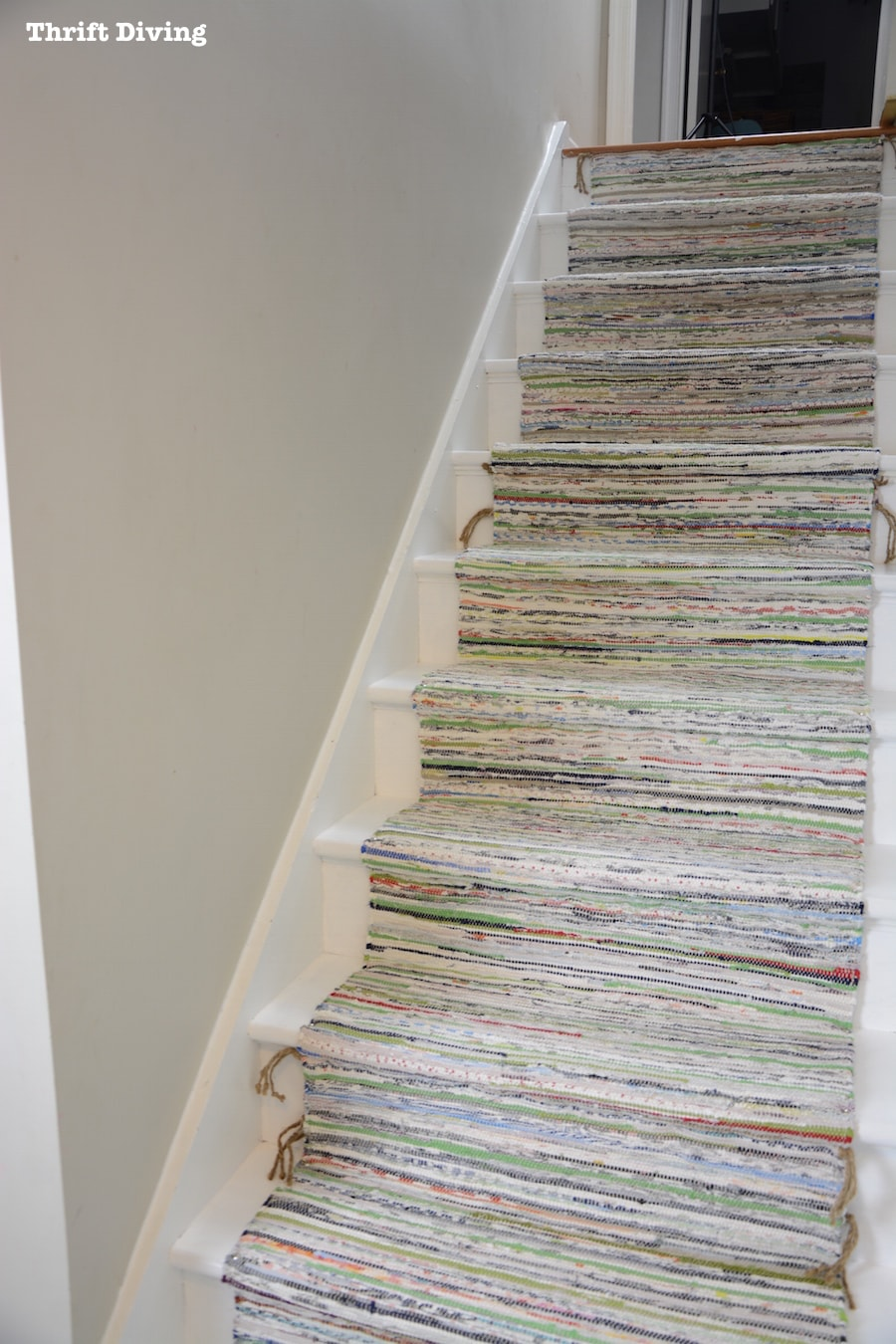 BEFORE  AFTER DIY Painted Stairs Makeover  Thrift Diving Blog