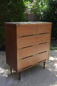 BEFORE & AFTER: Mid-Century Modern Dresser Makeover