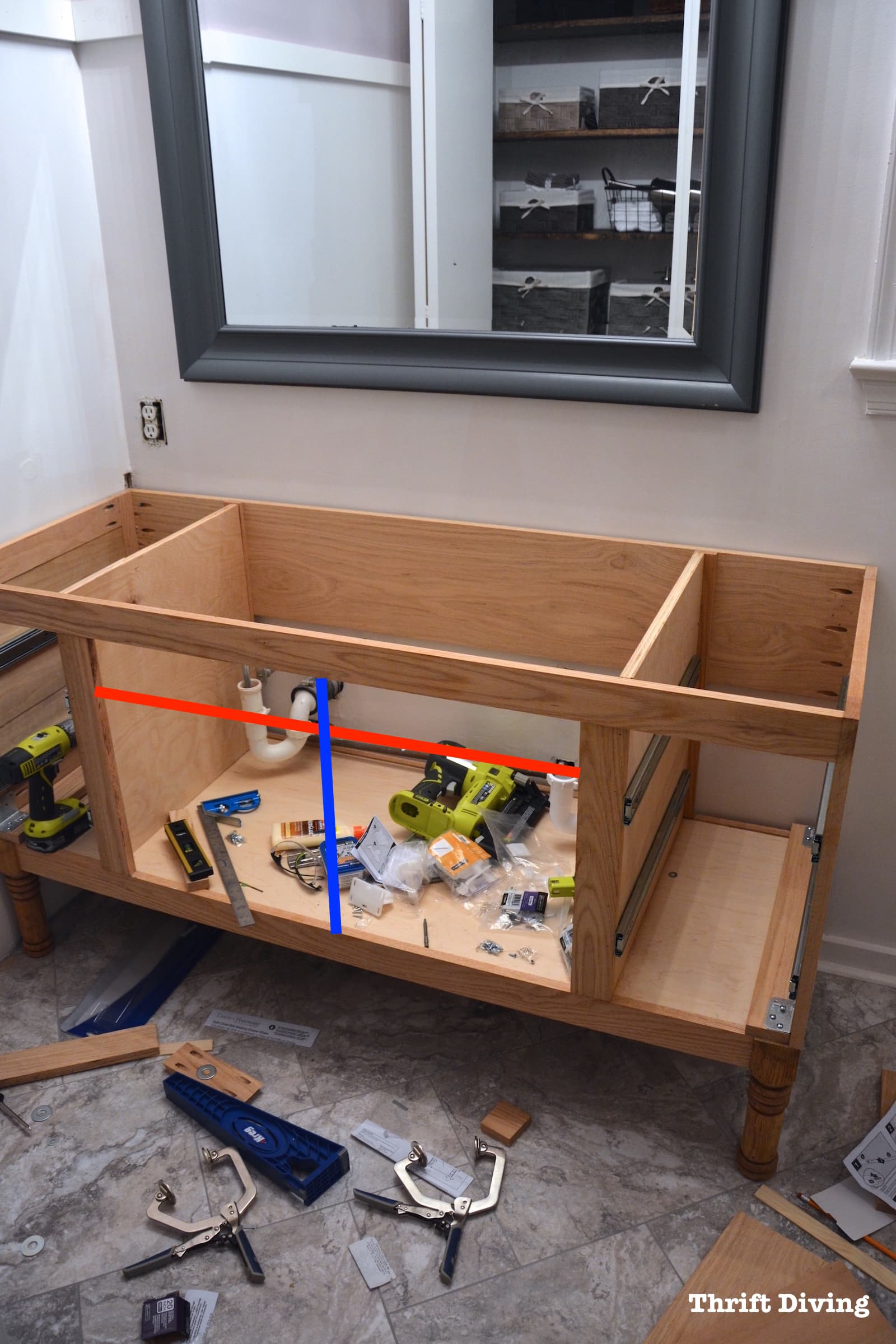 How To Build A Cabinet With Drawers And Doors : build, cabinet, drawers, doors, Building, Bathroom, Vanity:, Making, Cabinet, Doors