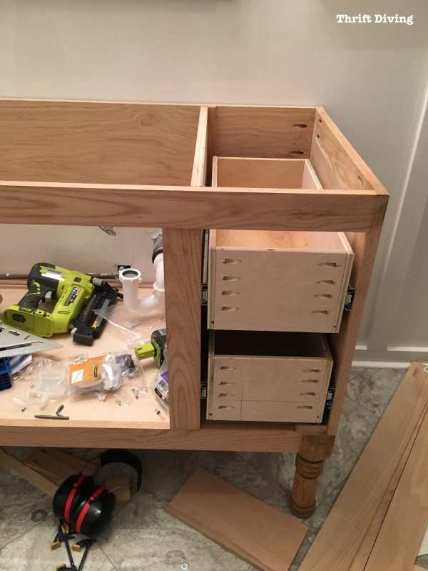 Build Diy Bathroom Vanity - Part 4 Making Drawers