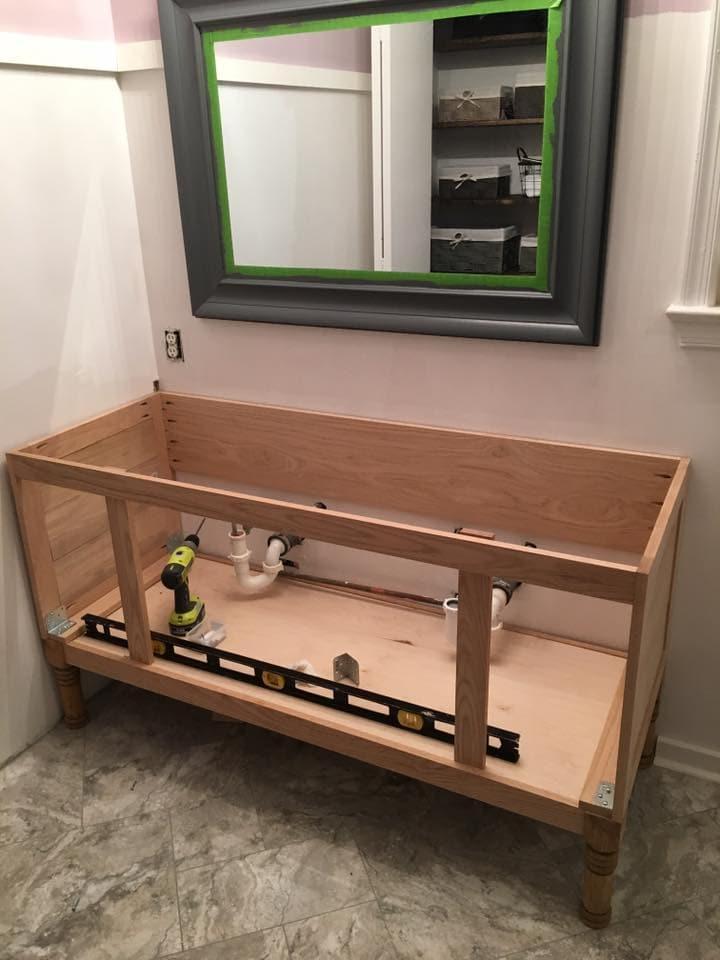 Build Bathroom Vanity