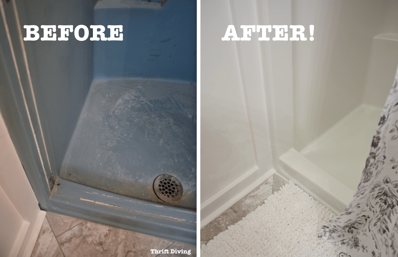 DIY Shower And Tub Refinishing I Painted My Old 1970s Shower