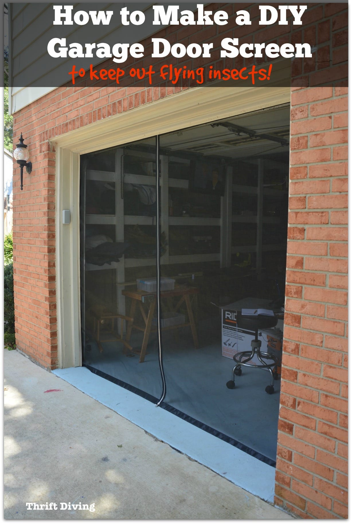 How to Make Your Own Garage Door Screen With a Zipper