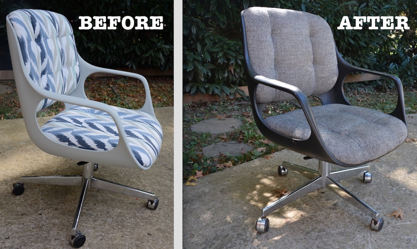mid century modern plastic chairs outsunny fishing chair before and after reupholster a wingback makeover part 1