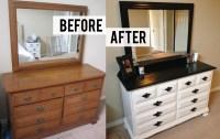 DIY Black and White Dresser Makeover | thriftingpretty