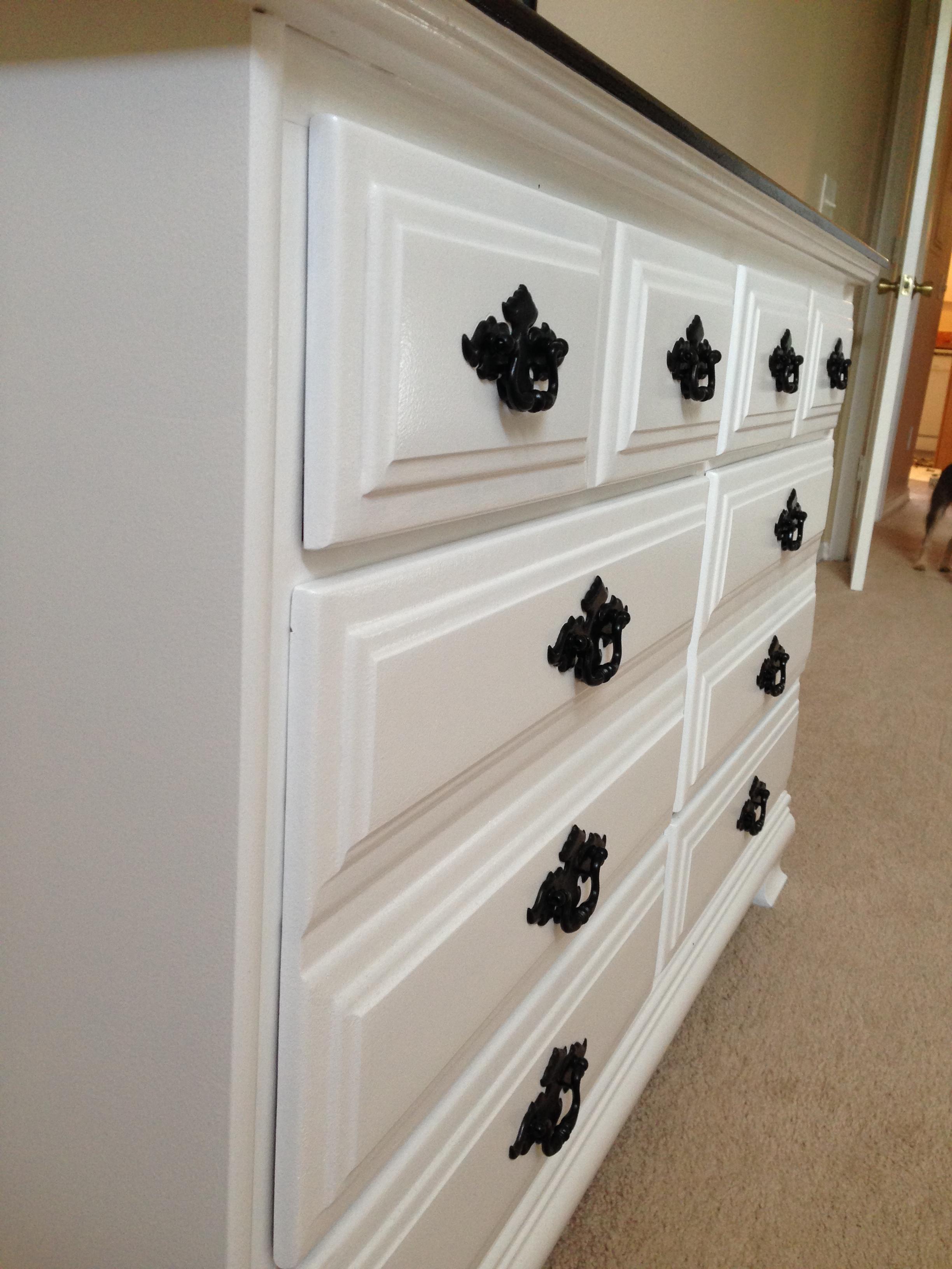 DIY Black and White Dresser Makeover  thriftingpretty