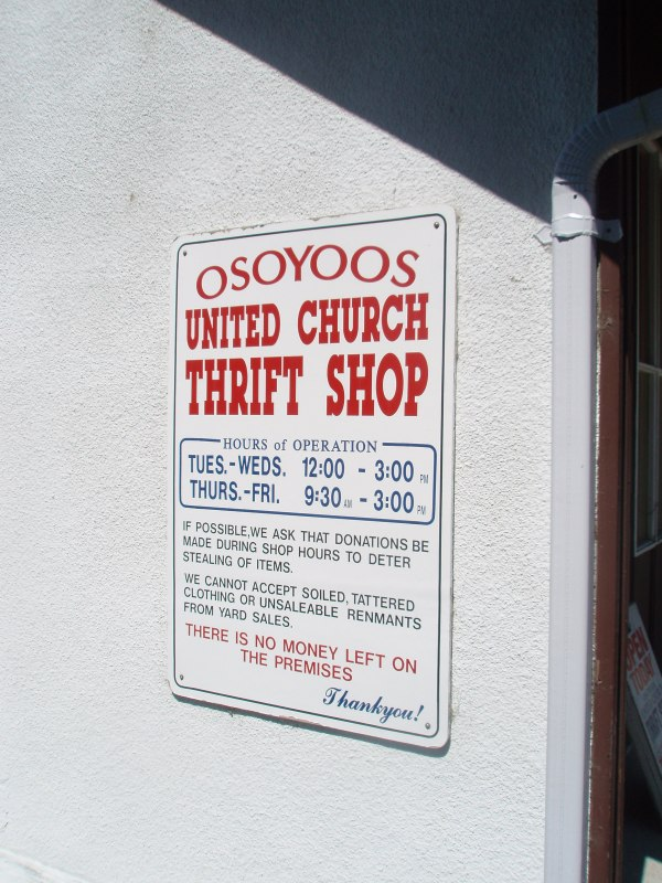 Thrift Shopping In Osoyoos Bc Shopper Peace