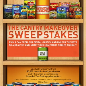 Can Manufacturers Institute Cantry Makeover Sweepstakes