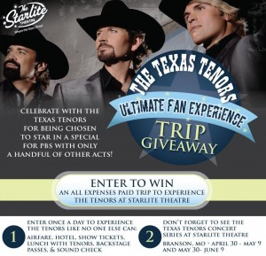Starlite Theatre Texas Tenors Trip Giveaway