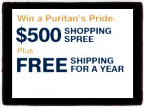 WIN a $500 Puritan's Pride Shopping Spree1