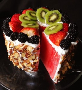 Healthy Watermelon Cake