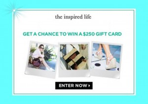 Inspired Life $250 Shopping Spree Sweepstakes