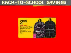Back Packs ONLY $2.99 at Walgreens