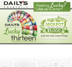 Daily's Cocktails Lucky 13 Sweepstakes & Instant Win Game