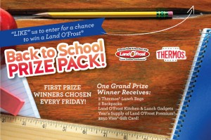 Land O'Frost Thermos -  Back To School Sweepstakes