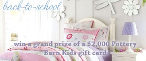 Pottery Barn Kids' Back to School Sweepstakes and Instant Win Game