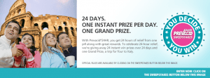 Prevacid 24HR You Decide, You Win Sweepstakes and Instant Win Game