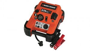Black & Decker 375-Amp Jump Starter with Built-In Tire Inflator, 12V DC Outlet & USB Charging Port