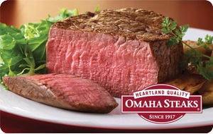 Enter to Win a $100 Omaha Steaks Gift Card