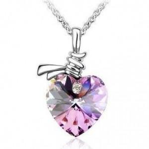 FREE Elegant Crystal Heart Pendant Necklace