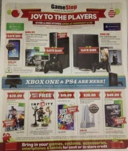 Game Stop Black Friday Deals