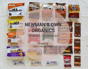 Newmans Own Organics Snacks Giveaway