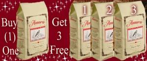Amora Coffee Buy One Get Three FREE!
